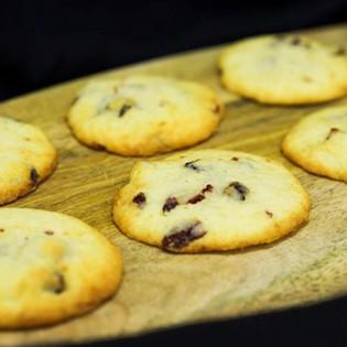 Biscuiți cu vanilie și merișoare (4 biscuiti)